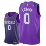 Phoenix Suns - Maillot NBA Isaiah Canaan 0 Nike Pourpre Ville 2018