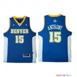 Denver Nuggets - Maillot NBA Carmelo Anthony 15 Retro Bleu