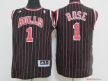 Chicago Bulls - Maillot Junior NBA Derrick Rose 1 Noir Bande