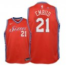 Philadelphia Sixers - Maillot Junior NBA Joel Embiid 21 Rouge Statement 2018
