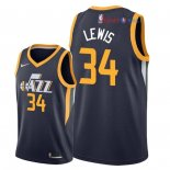 Utah Jazz - Maillot NBA Trey Lewis 34 Marine Icon 2018