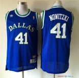 Dallas Mavericks - Maillot NBA Dirk Nowitzki 41 Retro Bleu