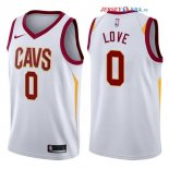 Cleveland Cavaliers - Maillot NBA Kevin Love 0 Blanc Association 2017/2018