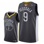 Golden State Warriors - Maillot NBA Andre Iguodala 9 Noir Statement Patch 2018 Finales Champions