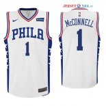 Philadelphia Sixers - Maillot NBA T.J. McConnell 1 Blanc 2017/2018