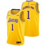 Los Angeles Lakers - Maillot NBA Kentavious Caldwell Pope 1 Jaune 2018/2019