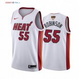 Miami Heat - Maillot NBA Duncan Robinson 55 Blanc Association 2020 Finales Champions