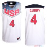 2014 USA - Maillot NBA Curry 4 Blanc