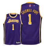 Los Angeles Lakers - Maillot Junior NBA Kentavious Caldwell Pope 1 Pourpre Statement 2018/2019