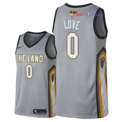Cleveland Cavaliers - Maillot NBA Kevin Love 0 Nike Gris Ville Patch 2018 Finales Champions