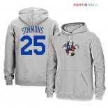 Philadelphia Sixers - Sweat Capuche NBA Ben Simmons 25 Gris