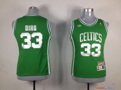 Boston Celtics - Maillot Femme NBA Larry Joe Bird 33 Vert