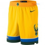 Milwaukee Bucks - Pantalon NBA Nike Jaune Ville 2018/2019