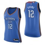 Oklahoma City Thunder - Maillot Femme NBA Steven Adams 12 Bleu Icon 2017/2018