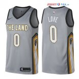 Cleveland Cavaliers - Maillot NBA Kevin Love 0 Nike Gris Ville 2017/2018
