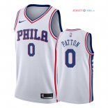 Philadelphia Sixers - Maillot NBA Justin Patton 0 Blanc Association 2018