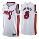 Miami Heat - Maillot NBA Tyler Johnson 8 Blanc Association 2018