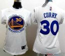 Golden State Warriors - Maillot Femme NBA Stephen Curry 30 Blanc Bleu