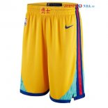 Golden State Warriors - Pantalon NBA Jaune Ville
