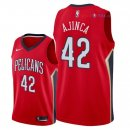 New Orleans Pelicans - Maillot NBA Alexis Ajinca 42 Rouge Statement 2018
