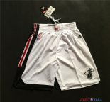 Miami Heat - Pantalon NBA Retro Blanc