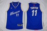 Golden State - Maillot Junior NBA Klay Thompson 11 Bleu 2015 Noël