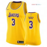 Los Angeles Lakers - Maillot Femme NBA Josh Hart 3 Jaune Icon 2018/2019