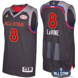2017 All Star - Maillot NBA Zach Lavine 8 Charbon