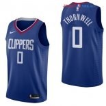 Los Angeles Clippers - Maillot NBA Sindarius Thornwell 0 Bleu Icon 2017/2018
