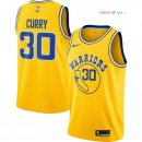 Golden State Warriors - Maillot NBA Stephen Curry 30 Nike Retro Jaune 2018/2019