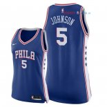 Philadelphia Sixers - Maillot Femme NBA Amir Johnson 5 Bleu Icon 2018
