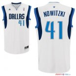 Dallas Mavericks - Maillot NBA Dirk Nowitzki 41 Blanc