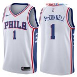 Philadelphia Sixers - Maillot NBA T.J. McConnell 1 Blanc Association 2017/2018