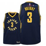 Indiana Pacers - Maillot Junior NBA Aaron Holiday 3 Marine Icon 2018/2019