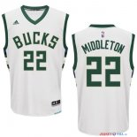 Milwaukee Bucks - Maillot NBA Khris Middleton 22 Blanc