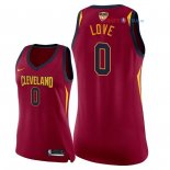Cleveland Cavaliers - Maillot Femme NBA Kevin Love 0 Rouge Icon Patch 2018 Finales Champions