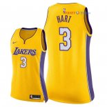 Los Angeles Lakers - Maillot Femme NBA Josh Hart 3 Jaune Icon 2018