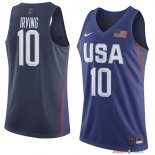 2016 USA - Maillot NBA Kyrie Irving 10 Bleu