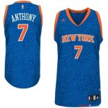 New York Knicks - Maillot NBA Anthony 7 Bleu Luz Lumière Leopard