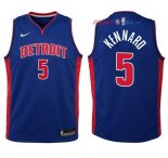 Detroit Pistons - Maillot Junior NBA Luke Kennard 5 Bleu Icon