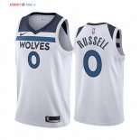 Minnesota Timberwolves-Maillot NBA D'angelo Russell 0 Blanc Association 2019/2020