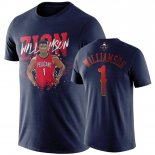 New Orleans Pelicans-T-Shirt NBA Zion Williamson Marine Player Graphic