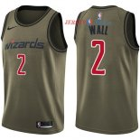 Washington Wizards - Maillot NBA John Wall 2 Nike Armée verte 2018 Service De Salut