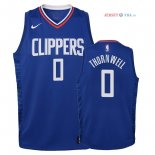 Los Angeles Clippers - Maillot Junior NBA Sindarius Thornwell 0 Bleu Icon 2018