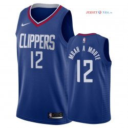 Los Angeles Clippers - Maillot NBA Luc Mbah a Moute 12 Bleu Icon 2018