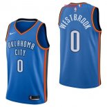 Oklahoma City Thunder - Maillot NBA Russell Westbrook 0 Bleu Icon 2017/2018