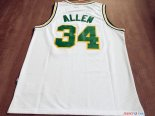 Seattle Supersonics - Maillot NBA Ray Allen 34 Retro Blanc