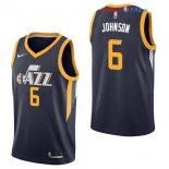 Utah Jazz - Maillot NBA Joe Johnson 6 Marine Icon 2017/2018