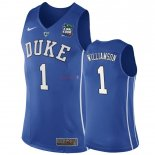 Duke - Maillot NCAA Zion Williamson 1 Bleu 2019