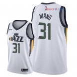 Utah Jazz - Maillot NBA Georges Niang 31 Blanc Association 2018